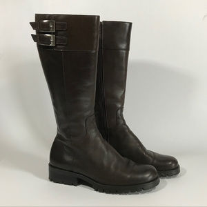 Nine West Tall Brown Boots wBuckles and Grip Soles